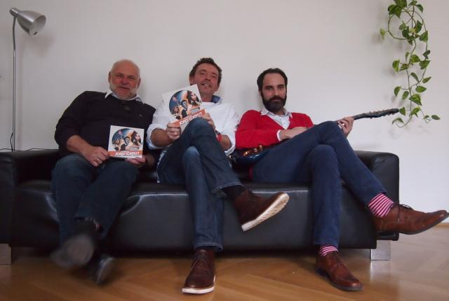 """Werner Vogel,  Bernhard Tscherne und  Feri Janoska schrieben das Buch """"The very best of Song Contest"""""""