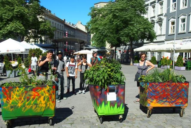 Pflanzen auf Rädern