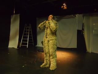 Anthony  Wagner bei den Proben zum Theaterstück Transgender Moves im brut, Wien