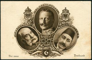 Der Dreibund des österreichischen und deutschen Kaisers und des Sultans
