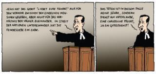 Daniel Jokesch zeichnet Karl Kraus Letzten Tage der Menschheit