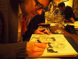 Andre Breinbauer, Comic, Stammtisch, Tisch 14, Wien