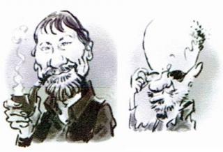 Der Autor Harald Pesata und der Zeichner Heinz Wolf