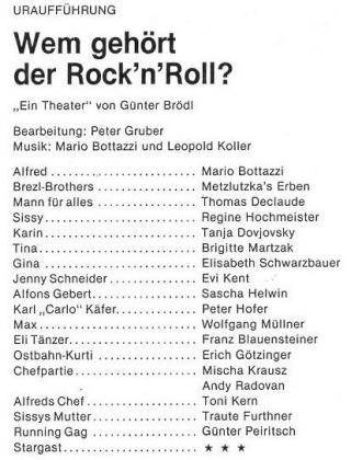 Günter Brödl, Ostbahn-Kurti, Stadtspaziergang, Wem gehört der Rock, Theater der Jugend