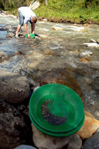 Goldwaschen in Rauris